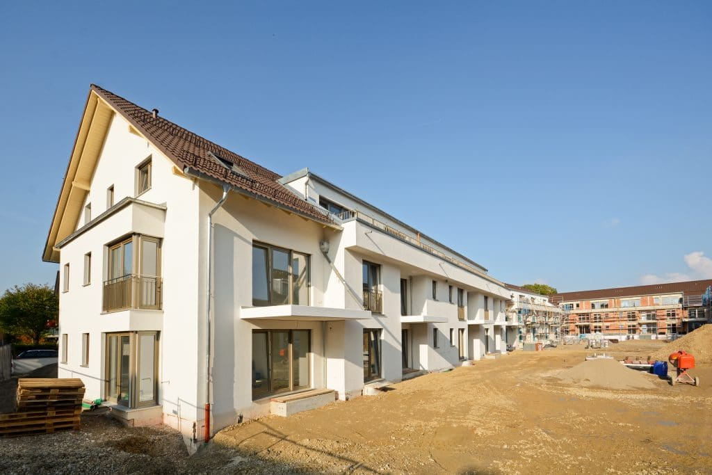 New,Residential,Buildings,With,Outdoor,Facilities,-,Construction,Work,Near